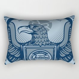 Rubino Blue Propaganda Rectangular Pillow
