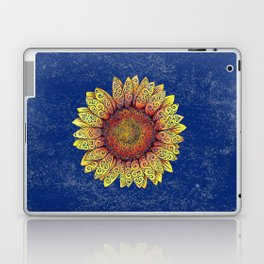 Swirly Sunflower Laptop & iPad Skin