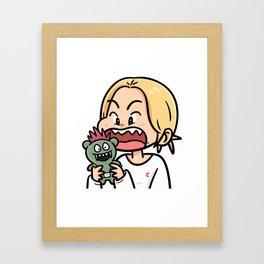 BITE!! Framed Art Print