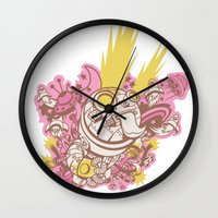 robot Wall Clocks featuring Robot by Stuff by Geeks