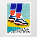Super Fire - retro sneakers, throwback, memphis, fashion, shoes, sneakers, by wacka