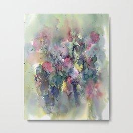 Impressionistic Watercolor of Sweet Peas Metal Print