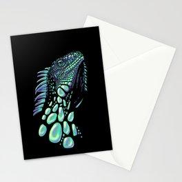 Iguana black Stationery Cards