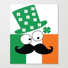 Irish mustache man st.Patty's day Canvas Print