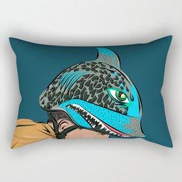 The Shark Helmet Rectangular Pillow