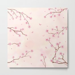 Cherry Blossom Dream Metal Print