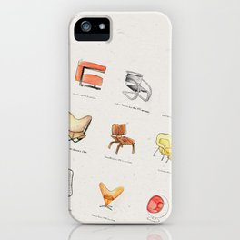 Post Modern Watercolor Chairs iPhone Case