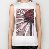 chic Biker Tanks featuring coneflower chic by inourgardentoo