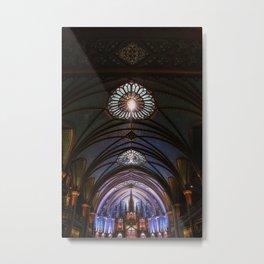 Inside Notre-Dame Basilica Metal Print