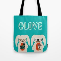 Hipster #LOVE Tote Bag