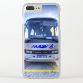 Malev Airlines Bus Clear iPhone Case