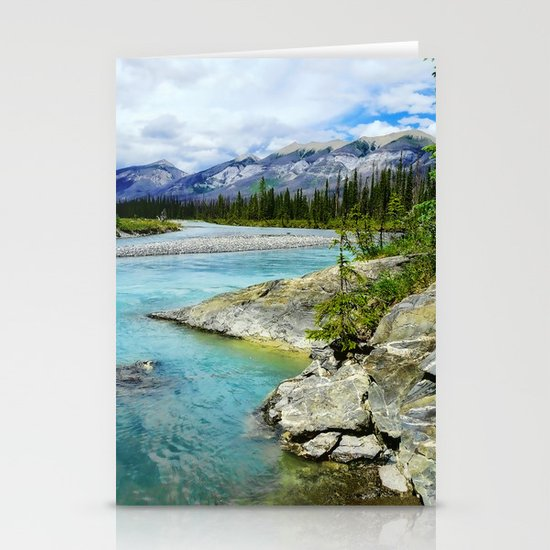 turquoise river Stationery Cards