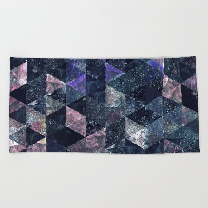 Abstract Geometric Background #11 Beach Towel