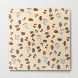 Coffee break Pattern Metal Print