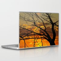 jewish Laptop & iPad Skins featuring Sunset Tree by Brown Eyed Lady
