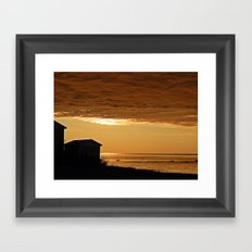 Heavy Clouds by the Sea Framed Art Print