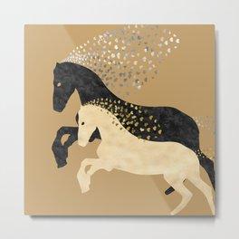 Free Horses Metal Print