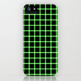 Neon Green & Black Optical illusion iPhone Case