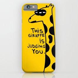 Judging Giraffe iPhone Case