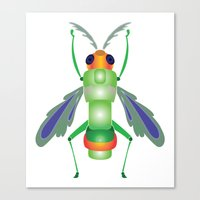 bug Canvas Prints featuring Bug by MinaSparklina