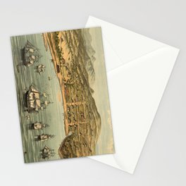 Vintage Pictorial Map of San Francisco (1884)  Stationery Cards