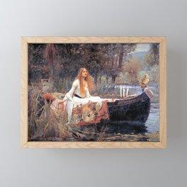 The Lady Of Shalott John William Waterhouse Framed Mini Art Print