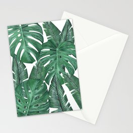 Tropical Leaves Art Print Stationery Cards