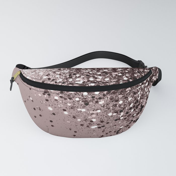 Sparkling Mauve Lady Glitter #1 #shiny #decor #art #society6 Fanny Pack