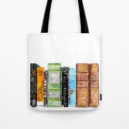 Mixed Classics Bookshelf Tote Bag