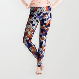 Knitted multicolor pattern 4 Leggings