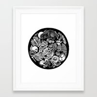 alchemy Framed Art Prints featuring Alchemy  by Emily N3ver