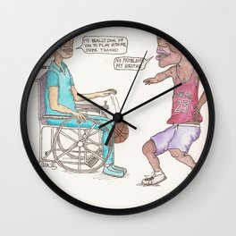 Pick-Up Game Wall Clock