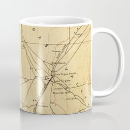 Vintage Map of The Las Vegas Valley NV (1907) Coffee Mug