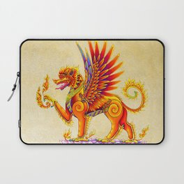 Singha Winged Lion Temple Guardian Laptop Sleeve