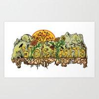 yosemite Art Prints featuring Yosemite  by Geryes