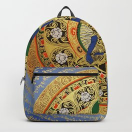 Blue Meditation Tibetan Buddhist Thangka Backpack