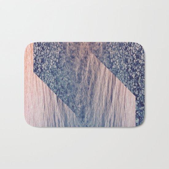 Geometric Sea Bath Mat