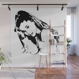PORTRAIT 0F AN AMERICAN FEMALE POP STAR,ACTRESS AND SONGWRITER Wall Mural