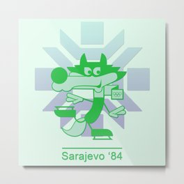 Vucko - 1984 Winter Olympics (green) Metal Print