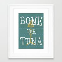 boardwalk empire Framed Art Prints featuring bone for tune (boardwalk empire) by christopher-james robert warrington