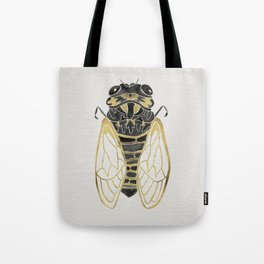 Cicada – Black & Gold Tote Bag