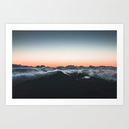 clouds sky 4 Art Print