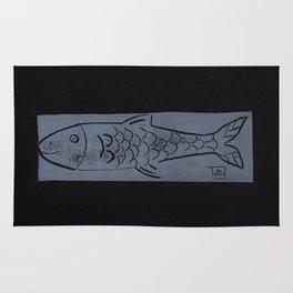 laying fish Rug