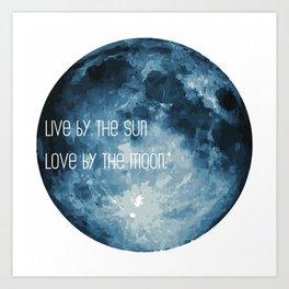 Love By The Moon Art Print