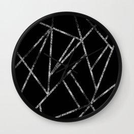 Classic Black Silver Geo #1 #geometric #decor #art #society6 Wall Clock