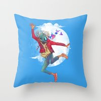birdman Throw Pillows featuring BIRDMAN by GENO