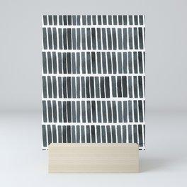 'indigo bars' - pattern Mini Art Print