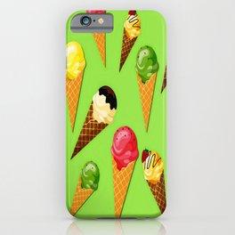 Ice cream-Light green iPhone Case