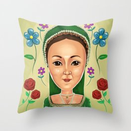 Anne Boleyn Throw Pillow
