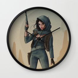 Jyn Erso - Fan Art Wall Clock